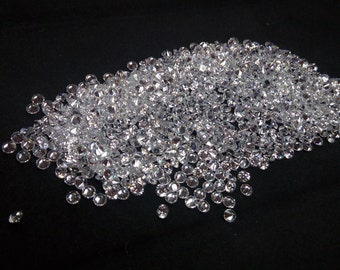 2mm Round Cut White Cubic Zirconia 5A Quality. Lot of 100 Stones