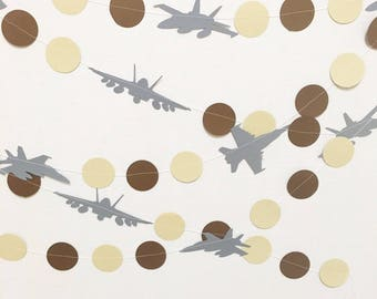 Fighter jet garland - (COLOR CUSTOMIZABLE)