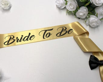 Bachelorette Sash Bride Sash Bride Gift Personalized Maid of honor Wedding sash Plus Size Bride Bridal sash Bridesmaid sash Satin sash Gift