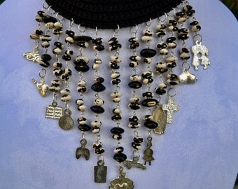 One of a kind black necklace