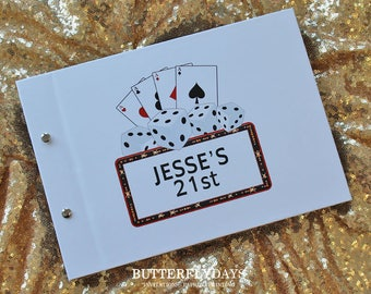 "Guest Book A4, Photo Book, ""Casino Royale"", Weddings, Engagements, Birthdays, Anniversaries"