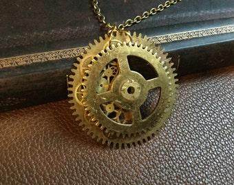Bronze Steampunk Necklace