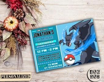 Pokemon Invitation / Pokemon Birthday / Pokemon Party / Pokemon Birthday Invitation / Pokemon Party Invitation / Pokemon Printable / Pokemon