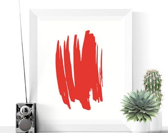 Red Abstract Art Printable | Red Art | Printable Art | Abstract Printable | Modern Prints | Minimalist Print | Gallery Wall