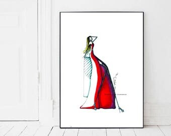 Fashion illustration: Beauty doesn't come easy