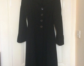 1940's grossgrain black coat