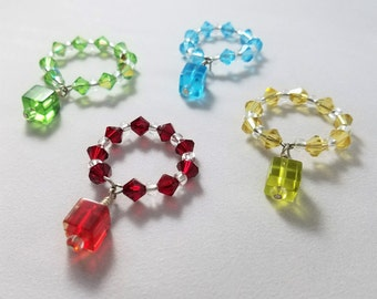 Color Cubed Wine Glass Charms Set of 4