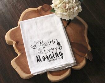 Bible Verse Kitchen Towel - Lamentations 3:24