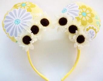 Yellow Flower Mickey/Minnie Ears, Daisy Flowers, Flower and Garden Festival Ears