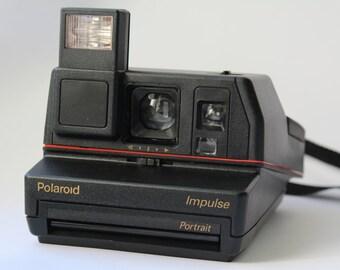 Vintage Polaroid Impulse Portrait 600 Camera, Instant photo, Polaroid Camera, Vintage Camera, Retro Camera, Retro photoCamera, Polaroid 600