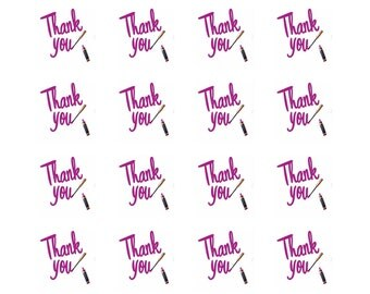 Lipsense Pink Thank You Stickers w/Lipstick