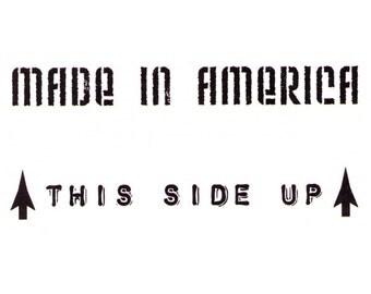 Made in America temporary tattoo design - 2x3 inch