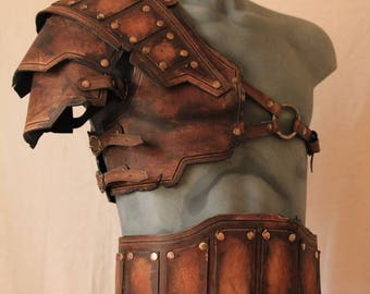 Gladiator leather set armor