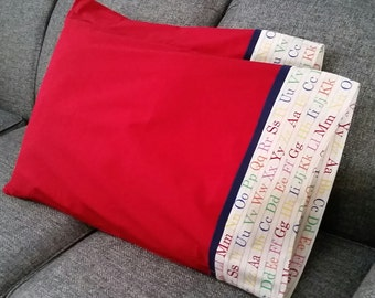 Red-ABC pillow cases