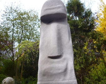 MOAI - Rapa Nui - Tiki - Easter Island-figure-sculpture-56 cm-stone cast concrete garden ornament easter island