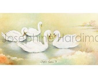Children of Lír Swans Print