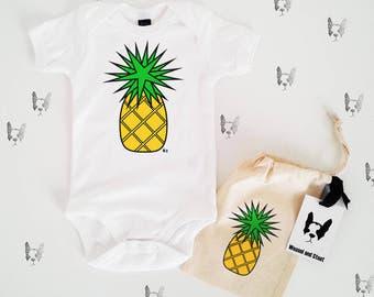 Pineapple Baby Grow Bodysuit