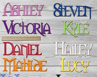 SNOW WHITE Personalized Wooden Name Sign Custom Plaque Words / Letters Wall Decor / Door / Laser Cut Wood Letters / Font