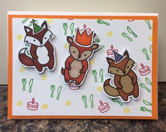 Handmade card - party animals