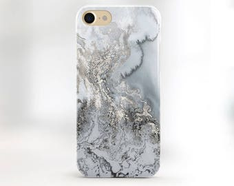 Phone Case Silver Marble iPhone 7 Case Silver iPhone 6s Case iPhone 7 Plus Metallic Marble case iPhone Case iPhone 6 Phone Case Gray Marble