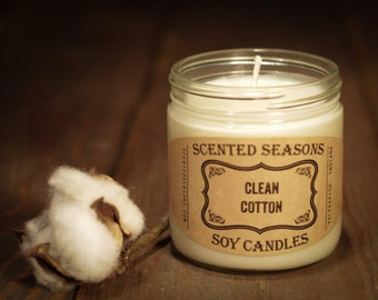 7 oz. Clean Cotton All Soy Candle