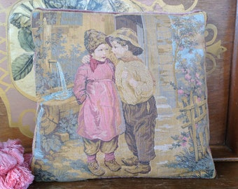 Antique Dutch Tapestry Pillow