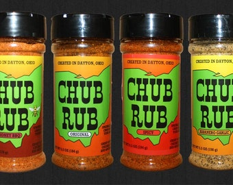 Chub Rub Gift Pack with Blistered Bhut Jolokia - 6 Pack