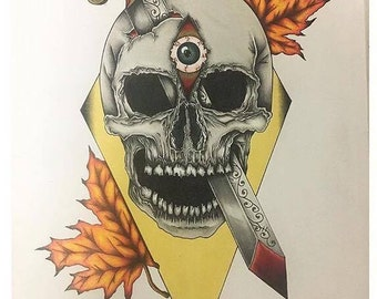 3 Eye Skull A3 Print
