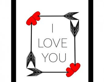 Printable quote I LOVE YOU