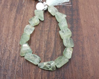 """Natural Aquamarine faceted large nugget beads approx. 8.5"""" strand"""