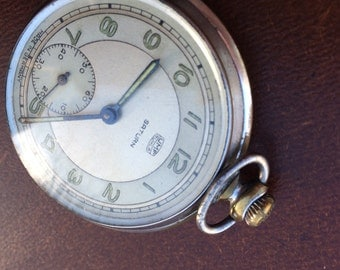 Vintage Saturn Pocket Watch, Made in Germany