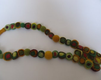 Necklace made of felted wool,gift