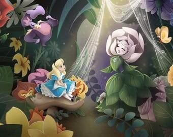 Golden Afternoon   Alice in Wonderland-inspired Art Print     6.5x10     9x14     12x18     Story Monster Art