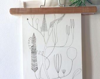 illustration, pen on watercolor paper