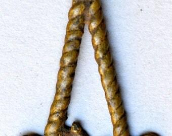 Antique Bronze Lobi Pendant from Burkina Faso - Vintage West African Bronze Pendant - BR809