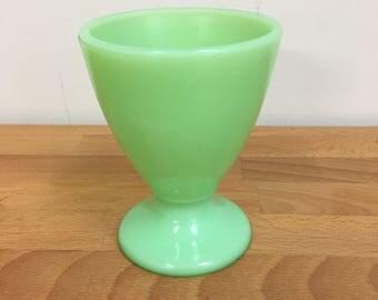 McKee Jadeite Footed Tumbler Cup