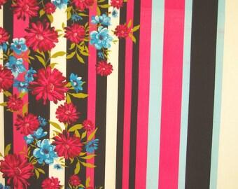 Bold Stripe Floral Print