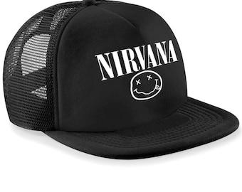 Nirvana Snap Back Cap   Trucker Hat,