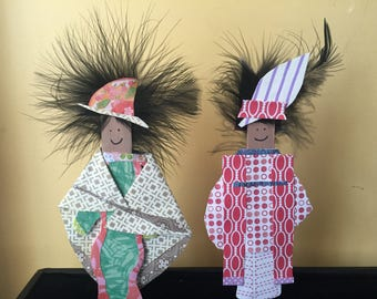 Mixed Media Paper Dolls - Featherheads Folk Art Set JR2-02
