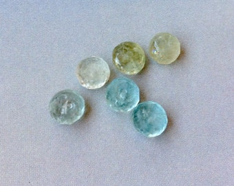 Six 6mm Aquamarine Rondelles, High Quality Aquamarine Beads, Loose Gemstone, Aquamarine Roundelles, Genuine Aquamarine, Natural Gemstone