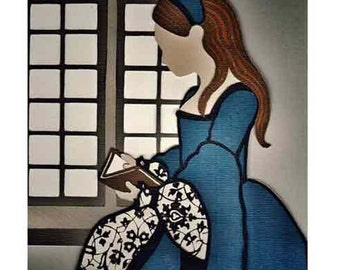 Tudor Princess - A high quality print from an original paper cut Illustration