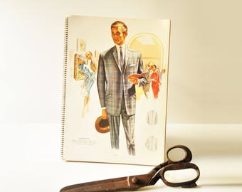 Set of 14 Illustrations - 1966 Grafton Fashions for Men - Tailoring Style Guide