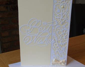 Handmade Greetings Card - 'Best Wishes' - ideal for Birthday, Wedding, Anniversary etc.