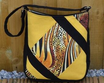 Feature Me Everyday Tote Bag, Shoulder tote Bag, Small Tote Bag, Yellow and Black Tote Bag