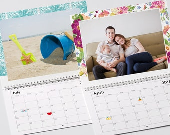 The 2017 Personalized Custom Printed Family Photo Calendar 24 Months Edition