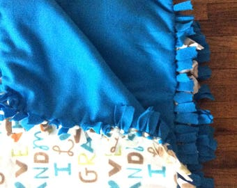 Love grandma fleece tie blanket