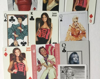 Collection of 10 women/female related swap playing cards all different A13