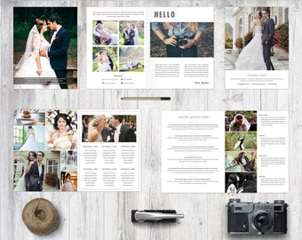 Photography Magazine, 8 pages, Template for photographers, Magazine Photoshop Template, MG01