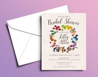 Macaroon Bridal Show Designed & Printed Invitations w/ Envelopes