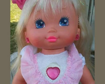 1988 pj sparkles light up doll with 9 volt battery (not included)very bright and cute made by mattel. tested and works well